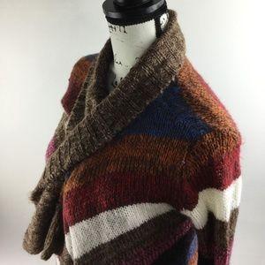 LIPSTICK Multi-Color Striped Long Sleeve Sweater